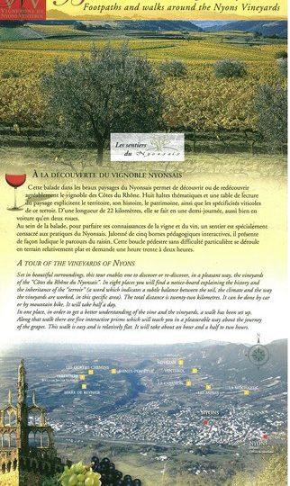 Balade et sentier du vignoble nyonsais à Nyons - 0