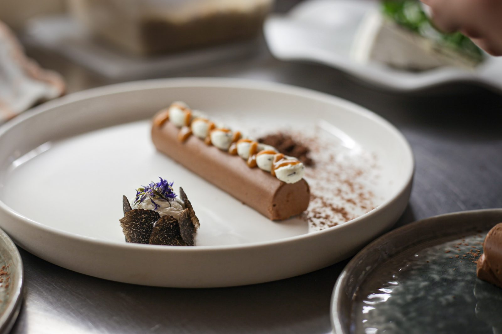 Dessert aux truffes