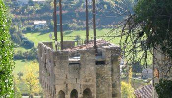 vue de la descente du château