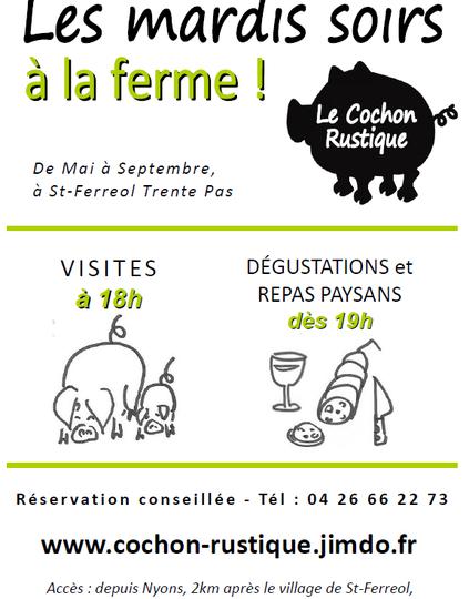 Visites de l'élevage de cochons en plein air (Baladez curieux) à Saint-Ferréol-Trente-Pas - 1
