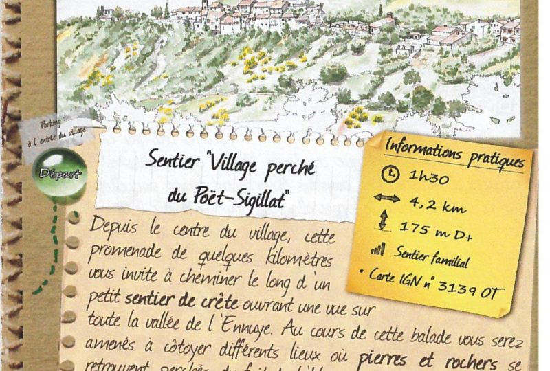 Village perché du Poët-Sigillat à Le Poët-Sigillat - 0