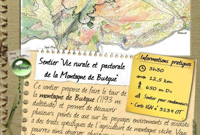 Sentier » Vie rurale et pastorale de la montagne du Buègue « à Saint-May - 0
