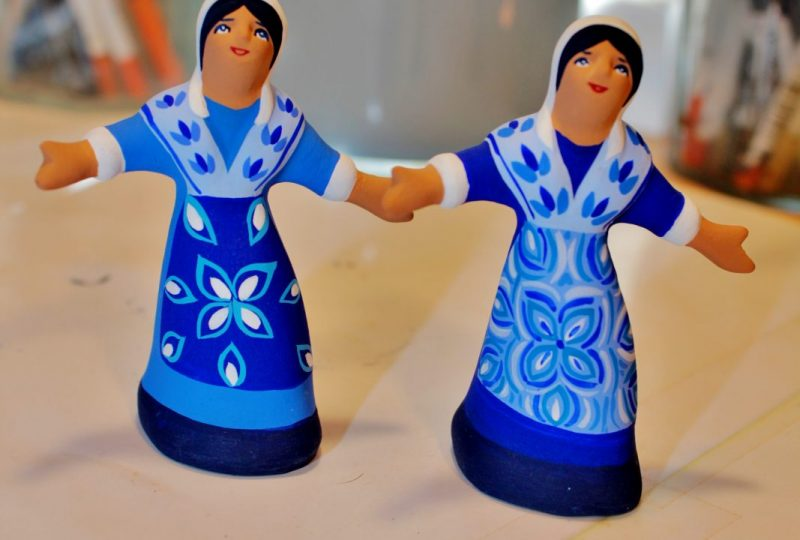Les santons bleus de Véronique Dornier à Brantes - 3