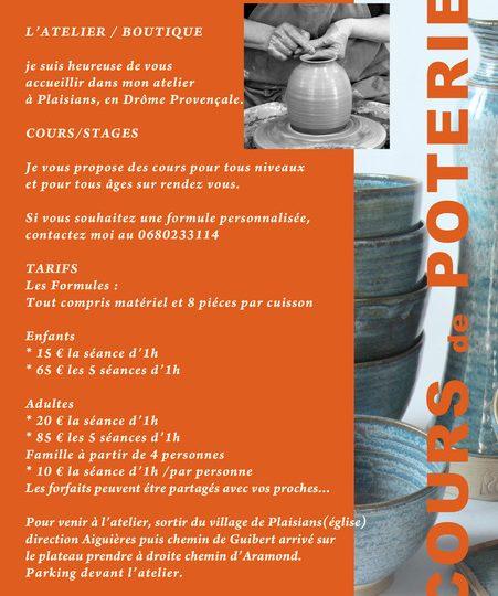 Cours de poterie à Plaisians - 1
