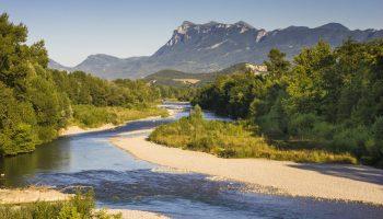 La rivière Drôme et les Trois Becs